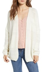 Dreamers By Debut Open Stitch Cardigan Ivory