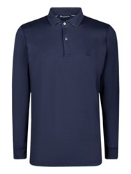 Aquascutum London Kendrick Long Sleeve Polo Shirt Navy