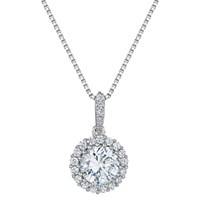 Jools By Jenny Brown Cubic Zirconia Circled Stone Pendant Necklace Silver
