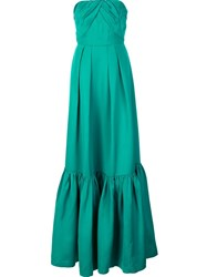 Zac Posen Strapless Gown Green