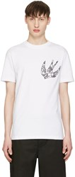 Mcq By Alexander Mcqueen White Paisley Swallow T Shirt
