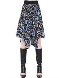 J.W.Anderson Floral Printed Crepe De Chine Skirt
