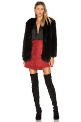 Lovers Friends Adora Faux Fur Jacket Black