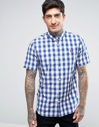 Fred Perry Short Sleeve Shirt Gingham Tartan Mix In White White