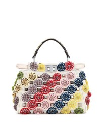 Fendi Peekaboo Mini Floral Canvas Satchel Bag Multi