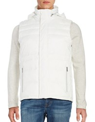 Calvin Klein Solid Sleeveless Quilted Vest Snow White