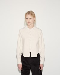 Eckhaus Latta Short Button Front Shirt Cream