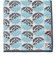 Isaia Floral Voile Pocket Square Grey