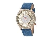 Betsey Johnson Bj00331 09 Open Cut Denim Gold Watches