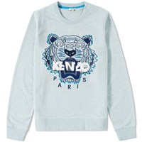Kenzo Tiger Molleton Crew Sweat Blue