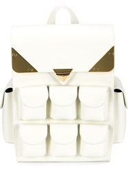 Valas Pocket Backpack White