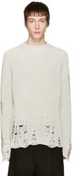 Song For The Mute Ivory Oversized Beau Sweater