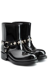 Red Valentino Shiny Rubber Boots Black