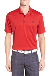 Men's Adidas Regular Fit Performance Golf Polo Power Red