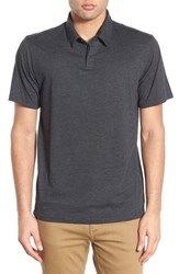 Men's Rvca 'Sure Thing Ii' Polo Charcoal Grey
