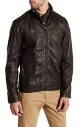Timberland Mount Major Genuine Leather Bomber Jacket Brown