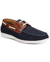 Unlisted By Kenneth Cole Men's Comment Ary Perforated Boat Shoes Men's Shoes Dark Blue