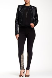 Candc California Tweed Panel Riding Legging Black