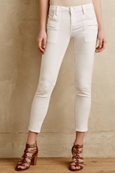 Sanctuary Zipped Twill Crops White