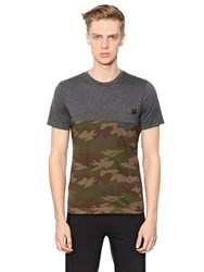 Hydrogen Camouflage Printed Cotton T Shirt