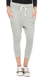 James Perse Cropped Sweatpants Heather Grey