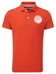 Bunker Mentality Plain Polo Regular Fit Polo Shirt Tangerine
