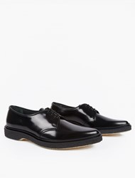 Adieu Black Leather Type 53 Derby Shoes