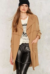 Bushwick Cocoon Coat Brown