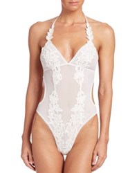 In Bloom Ariana Mesh And Lace Teddy Ivory
