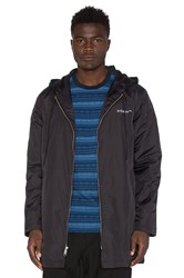 Stussy Insulated Long Hooded Coach Jacket Black