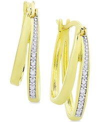 Victoria Townsend Diamond Accent Double Hoop Earrings Gold