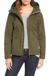 Penfield Women's 'Gibson' Wax Coated Hooded Jacket Olive