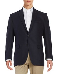 Lauren Ralph Lauren Textured Two Button Wool Jacket Navy