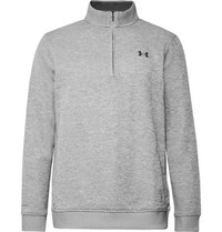 Under Armour Storm Fleece Back Jersey Half Zip Golf Sweatshirt Gray