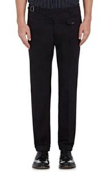 Dolce And Gabbana Twill Cuffed Trousers Blue