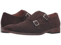 Dune Rhode Island Brown Suede Men's Monkstrap Shoes