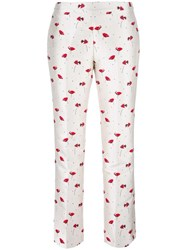 Giambattista Valli Floral Print Trousers White