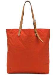 Ally Capellino Natalie Waxed Tote Yellow And Orange