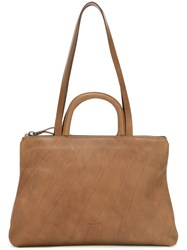 Marsell Grained Classic Tote Brown