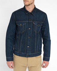 Levi's Dark Washed Denim Trucker Jacket Blue