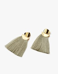 Lizzie Fortunato Crater Earring In Light Moss