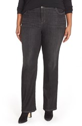 Plus Size Women's Eileen Fisher Stretch Denim Straight Leg Jeans Very Black