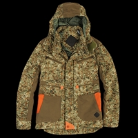 Unionmade Moncler Camo Print Steinbok Coat In Olive