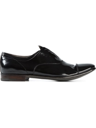 Premiata Laceless Oxford Shoes Black