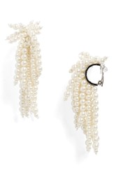 Toga Imitation Pearl Clip On Earrings 01 White