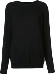 Organic By John Patrick Ribbed Sweater Black