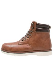 Your Turn Laceup Boots Cognac