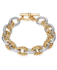 Charter Club Two Tone Twisted Link Bracelet Created For Macy's Two Tone