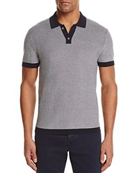 Bloomingdale's The Men's Store At Cotton Two Tone Regular Fit Polo Sweater Navy Ivory