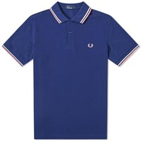 Fred Perry Authentic Twin Tipped Polo Blue